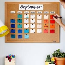 Календарь своими руками на листе