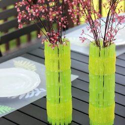 3314ccf82c208c9b91fab1247c0a1edc Ваза из пластиковой бутылки своими руками (34 фото): как сделать напольную вазу для цветов из пластиковой емкости, пошаговая инструкция для начинающих