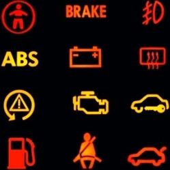 Обозначения индикаторов на приборной панели автомобиля
