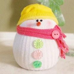 Снеговик сделать своими руками из носка
