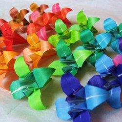 Как сделать цветки из бумаги в картинках 23