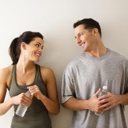 Фото мужчина и женщины, девушка голая в кабинке