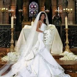 Шикарные дорогие свадебное платье