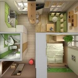 дизайн однокомнатных квартир малогабаритных фото