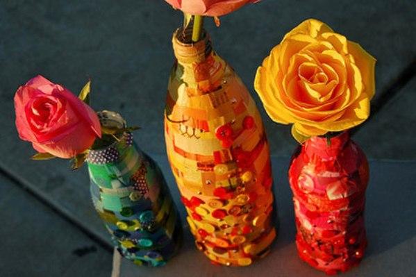 Украшение бутылок своими руками: способы и стили декора