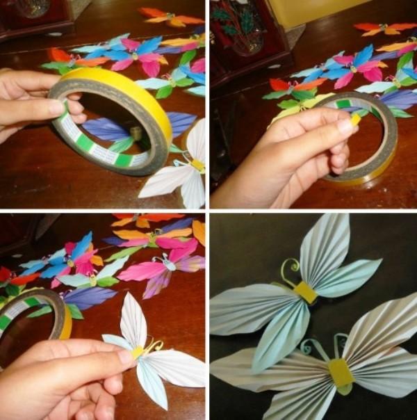 Бумажные бабочки - наклейки для декора 5 Поделки для детей