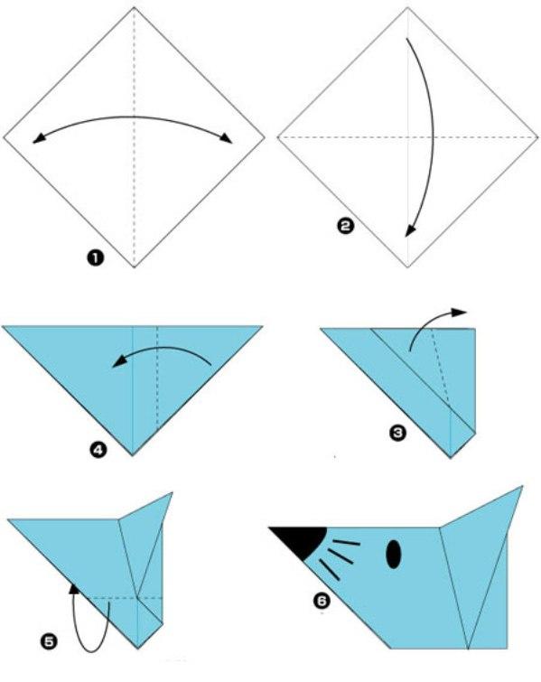 Оригами как сделать цыпленка из 43