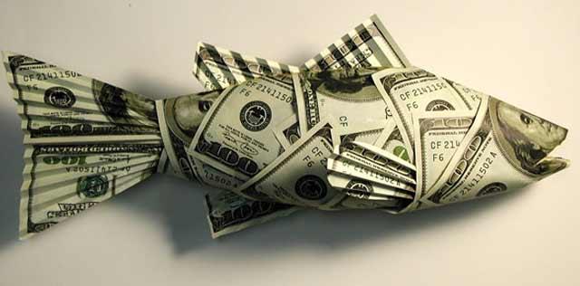 правило рыба из денежных купюр техники для лесозаготовки