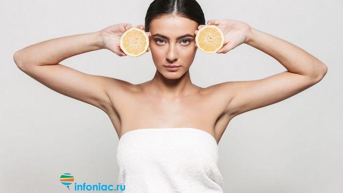 лимон и лицо