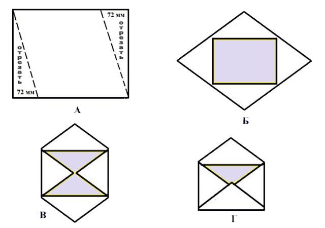 Как делать конверт поэтапно фото