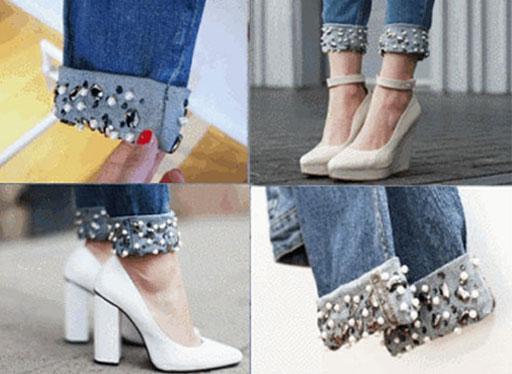 Как украсить джинсы для девочки своими руками