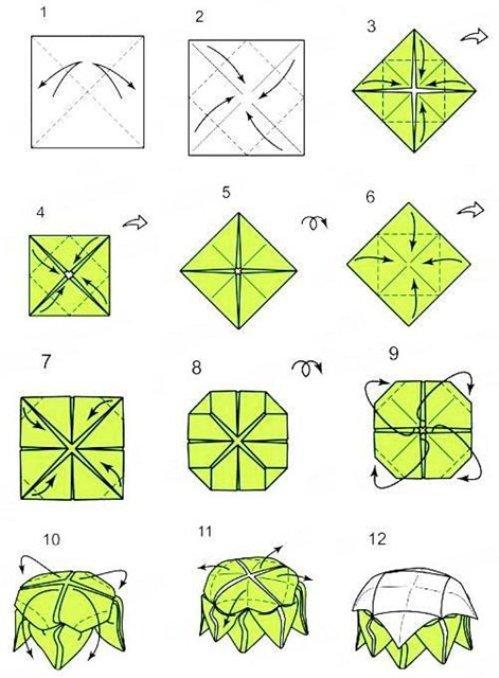 Как сделать оригами цветок