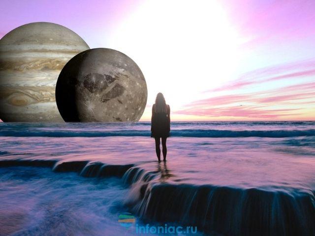 соединение Старуна и Юпитера