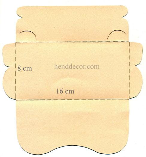 Конверт открытка для денег шаблон 149