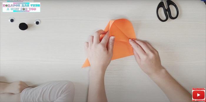 мордочка лисы из бумаги