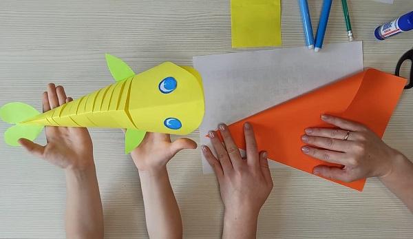 Объёмные рыбки из бумаги – делаем с детьми