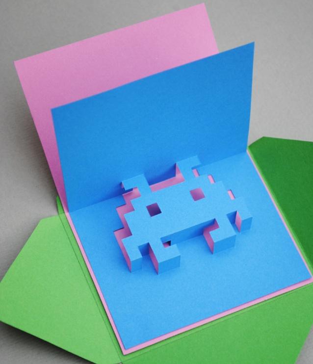 Юбилеем, как сделать из 1 бумаги открытку