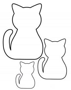 Аппликация «Полосатый котёнок»