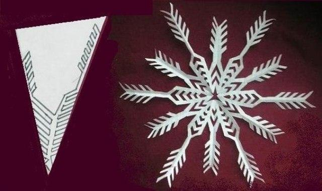 Как вырезать снежинки из бумаги своими руками: поэтапно, красивые, схемы для начинающих (фото)