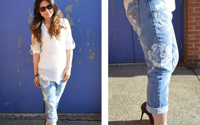 джинсовые рюкзаки со стразами