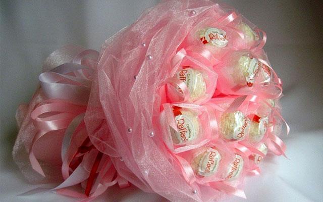 Конфеты в цветах розах своими руками из бумаги фото 623