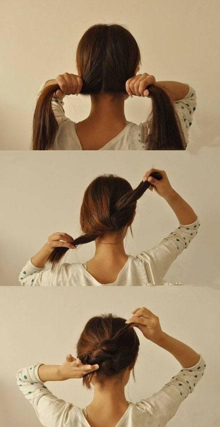 Укладка распущенных локонов на средние волосы