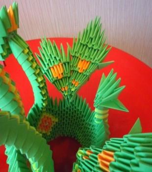 Модульное оригами змей горыныч фото мастер класс
