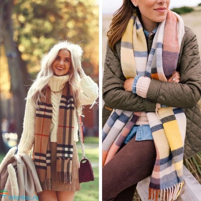10+ способов, как носить шарф зимой: с пальто, с пуховиком, с капюшоном