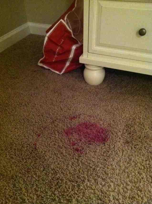 Как удалить пятно от фукорцина на ковре фото