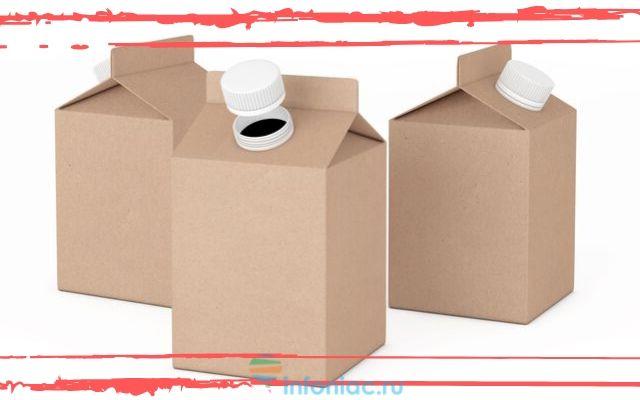 Картонные упаковки от молока