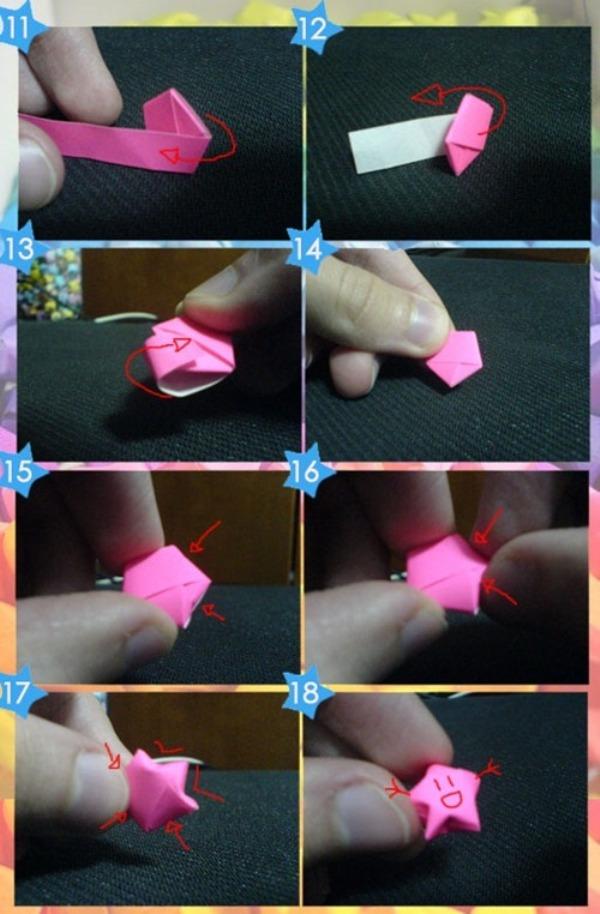Делаем звездочки из бумаги фото