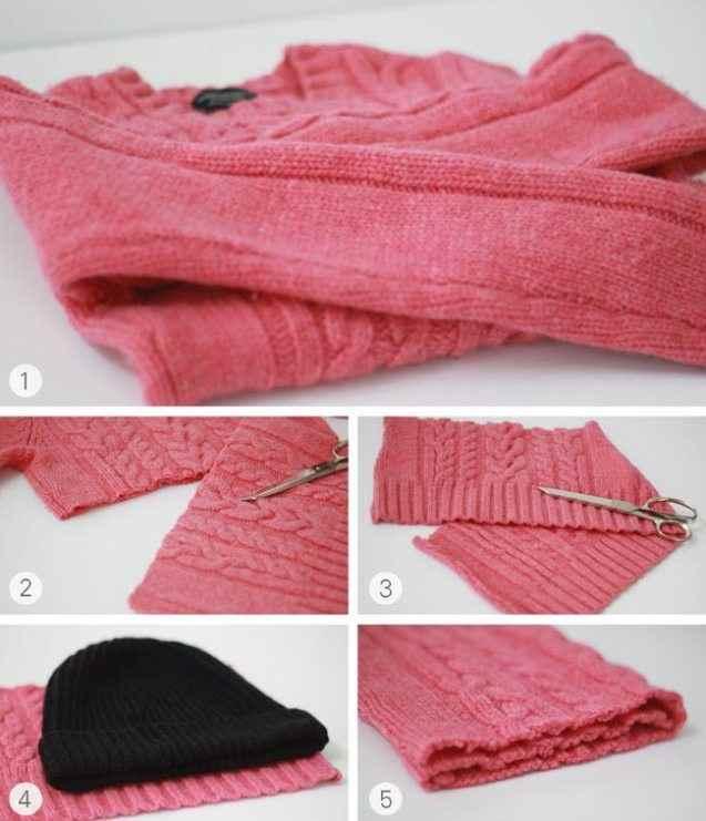 Переделка старых кофт и свитеров