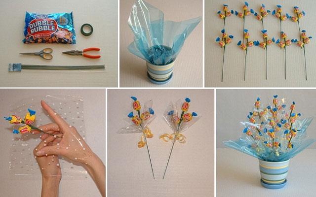 Букеты из конфет своими руками с пошаговыми фото