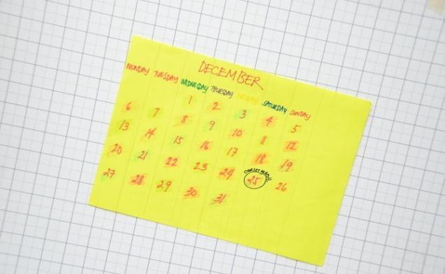 Как сделать отрывной календарь