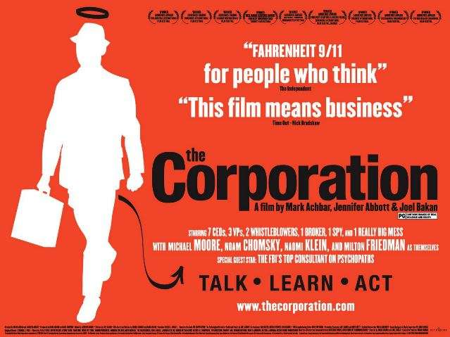 an analysis of marc achbar jennifer abbot joel bakans documentary the corporation 'the corporation' joel bakan's 2004 book, the corporation: the pathological pursuit of profit & power, provides an.