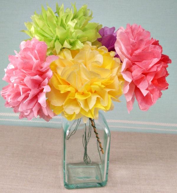Цветы с бумаги
