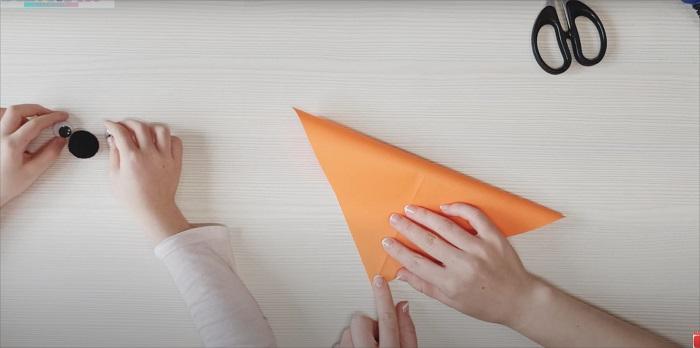 Милая мордочка лисы за 1 минуту – простое оригами