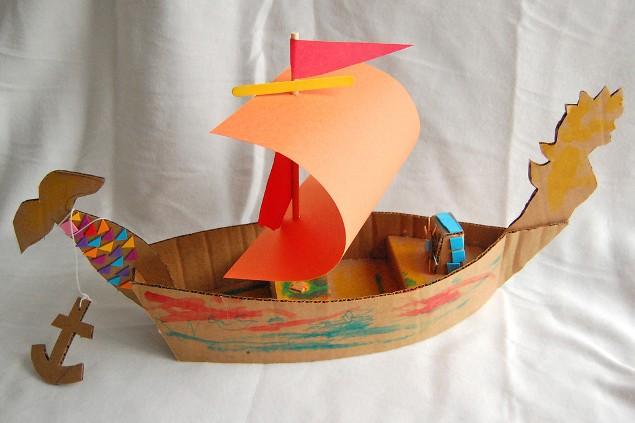 Как сделать бумажные кораблик своими руками