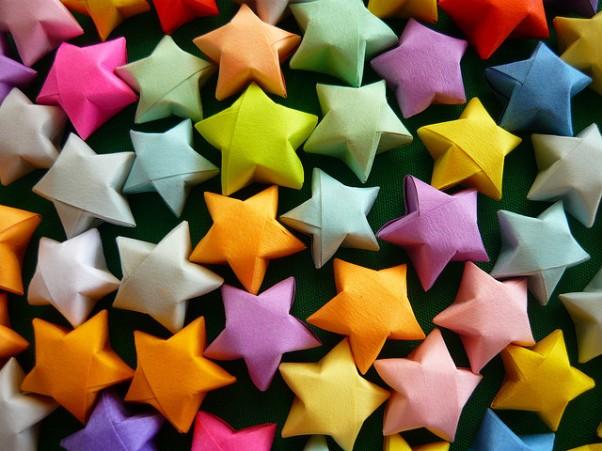 Как сделать из бумаги звезду схема