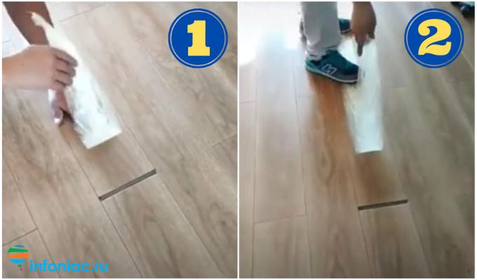 Как ударом ноги закрыть щель в ламинате: проверенный способ