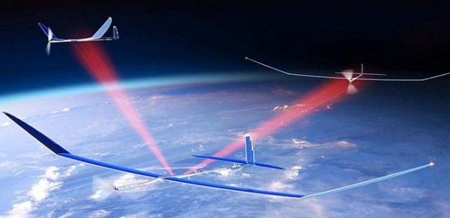 Сверхбыстрый 5G Интернет от беспилотников с солнечными панелями