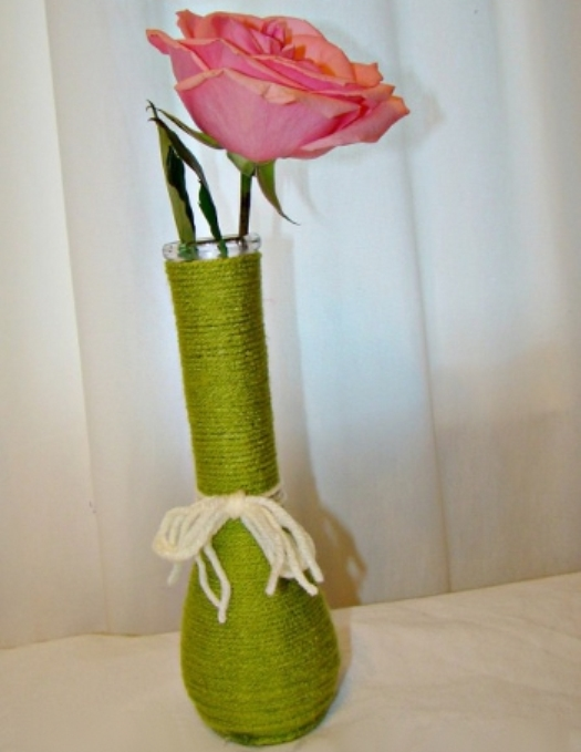 Как сделать вазу своими руками из под бутылки вина