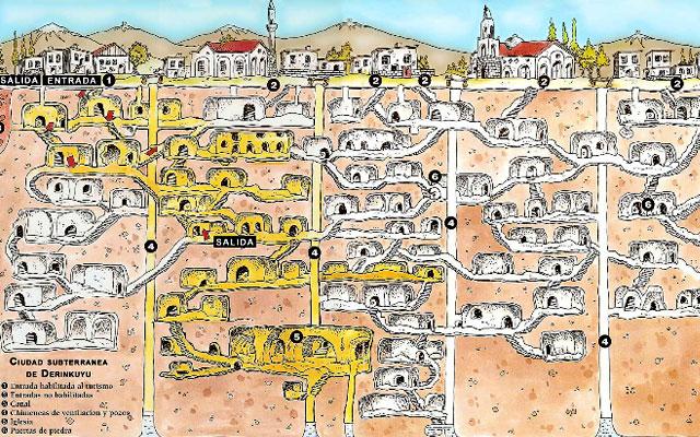 Подземные города. Карты подземных городов.  Fcac691c2299a0605d4ac3f1a83d2516