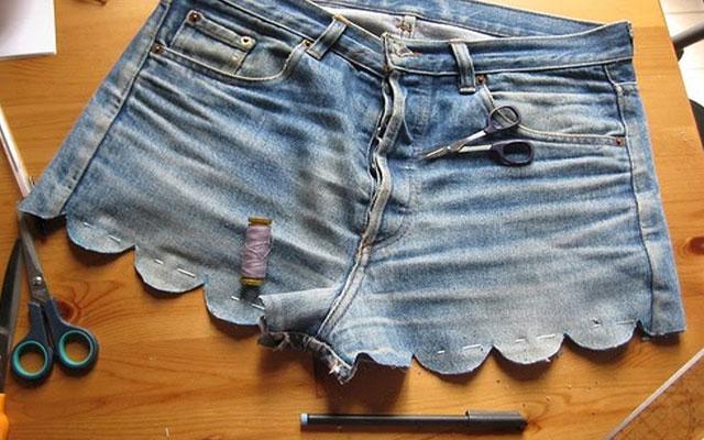 Как осветлить джинсовую юбку
