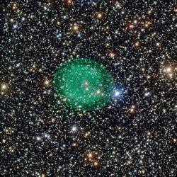 В космосе обнаружен странный зеленый пузырь