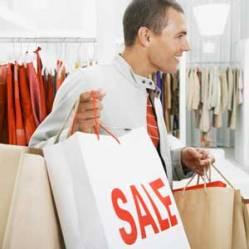Мужчины также как и женщины зависят от шопинга