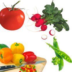 Дети едят овощи с интересными названиями
