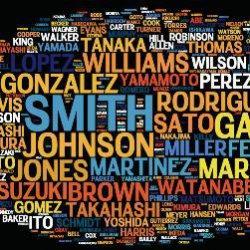25 самых популярных в мире фамилий