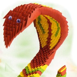 Бумажная змея из модулей
