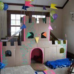 Как сделать дом из картона для детей